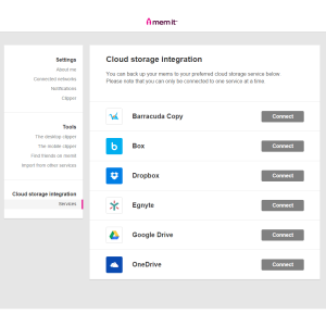 June: Then we added Barracuda Copy and Egnyte to our cloud backup options...